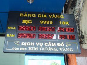 Bang Gia Vang Led