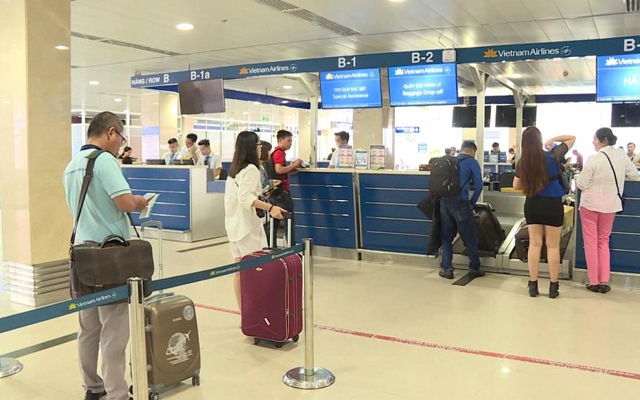 Hệ thống xếp hàng tại sân bay